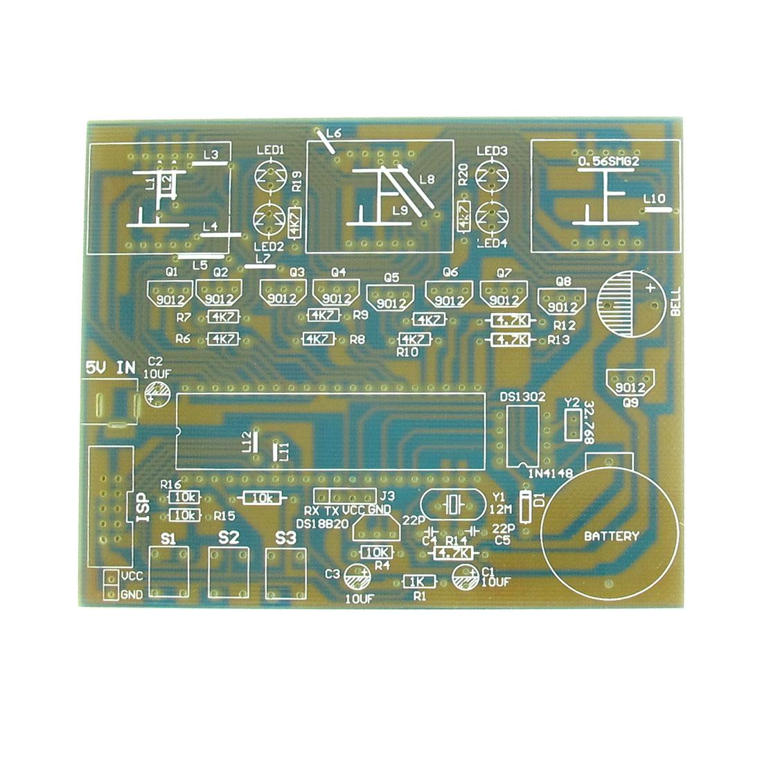 DS1302 DIY MCU Microcontroller Countdown Digital Electronic Clock Module PCB Blank Board 100mm x 83mm