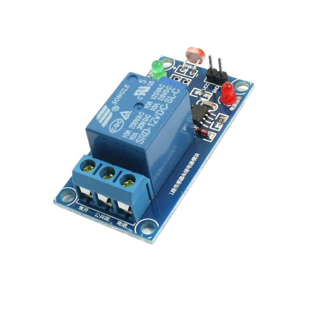 DC12V 1-Channel LED Light Microcomputer Control Photoresistance Sensor Relay PCB Board Module