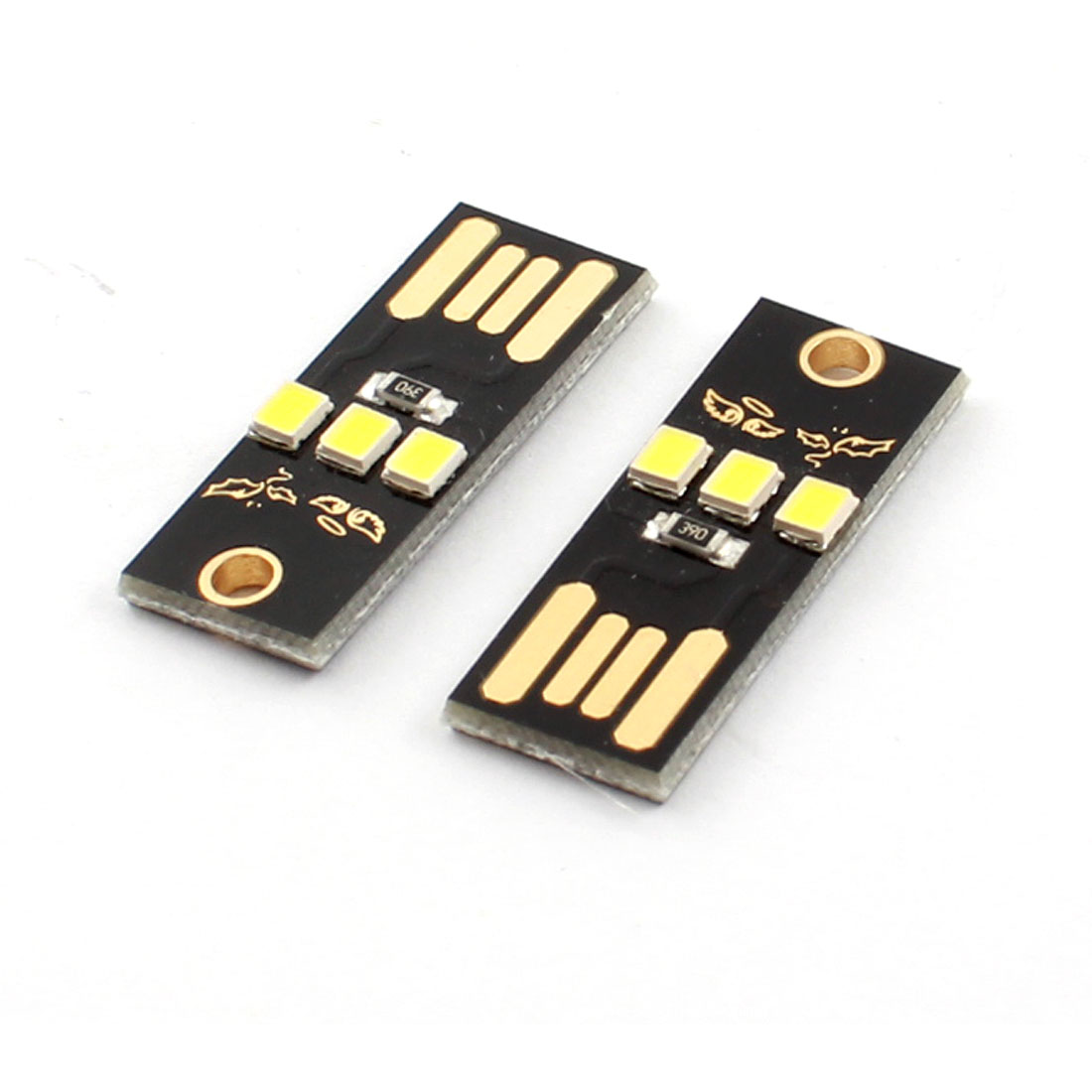 PC Notebook Laptop Keyboard Camping Black Board 0.2W Low Power USB 2.0 White SMD 2835 3LED Mini Light Lamp 2PCS