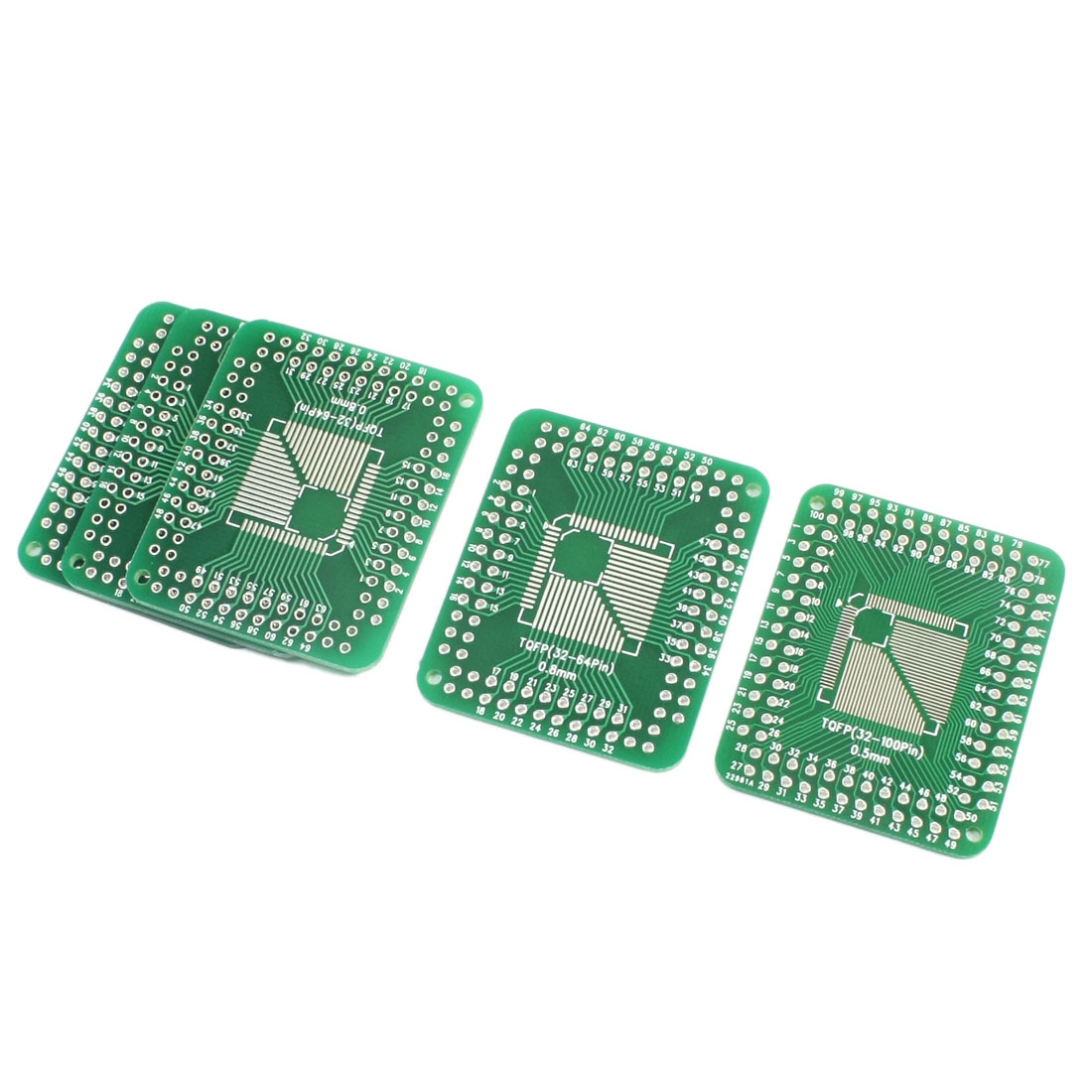 5 Pcs SMT TQFP/TQFP 0.5mm to 0.8mm Pitch TQFP Dual Sides DIP Mount IC PCB Adapter Converter Plate Board