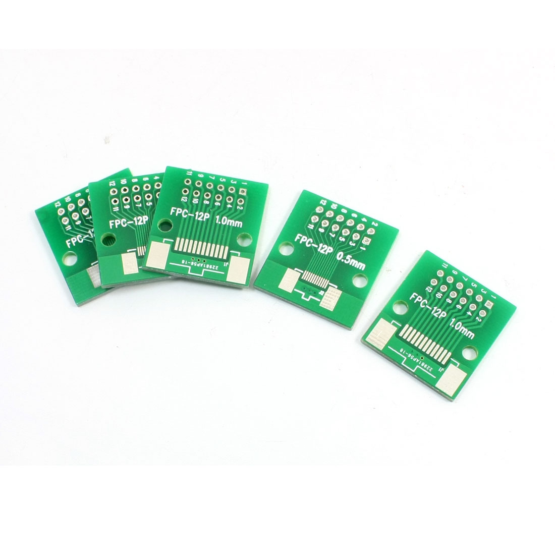5 Pcs 0.5mm to 1mm Pitch FPC12 DIP12 2 Sides DIP Mounting SMD SMT IC PCB Adapter Converter Plate Board