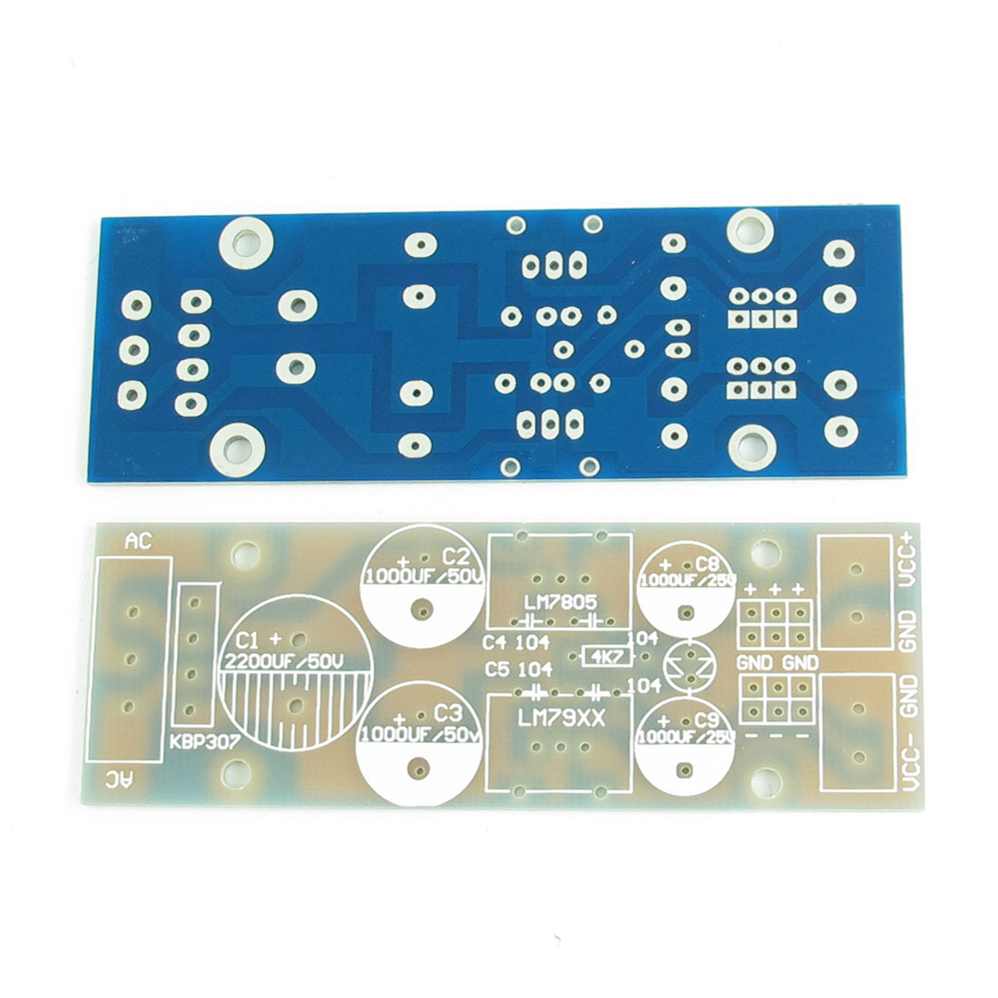 L7805 L7905 Positive Negative Voltage Output Regulator Stabilization Blank PCB Board 90mm x 30mm 2Pcs