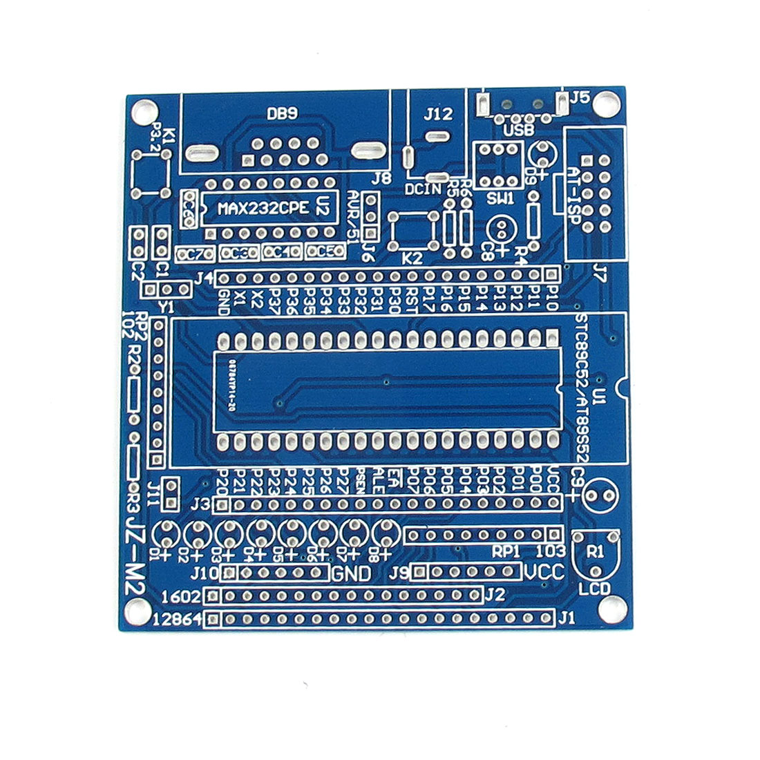 JZ-M2 Mini 51 AVR MCU Microcontroller Data Download PCB Blank Board 82mm x 75mm