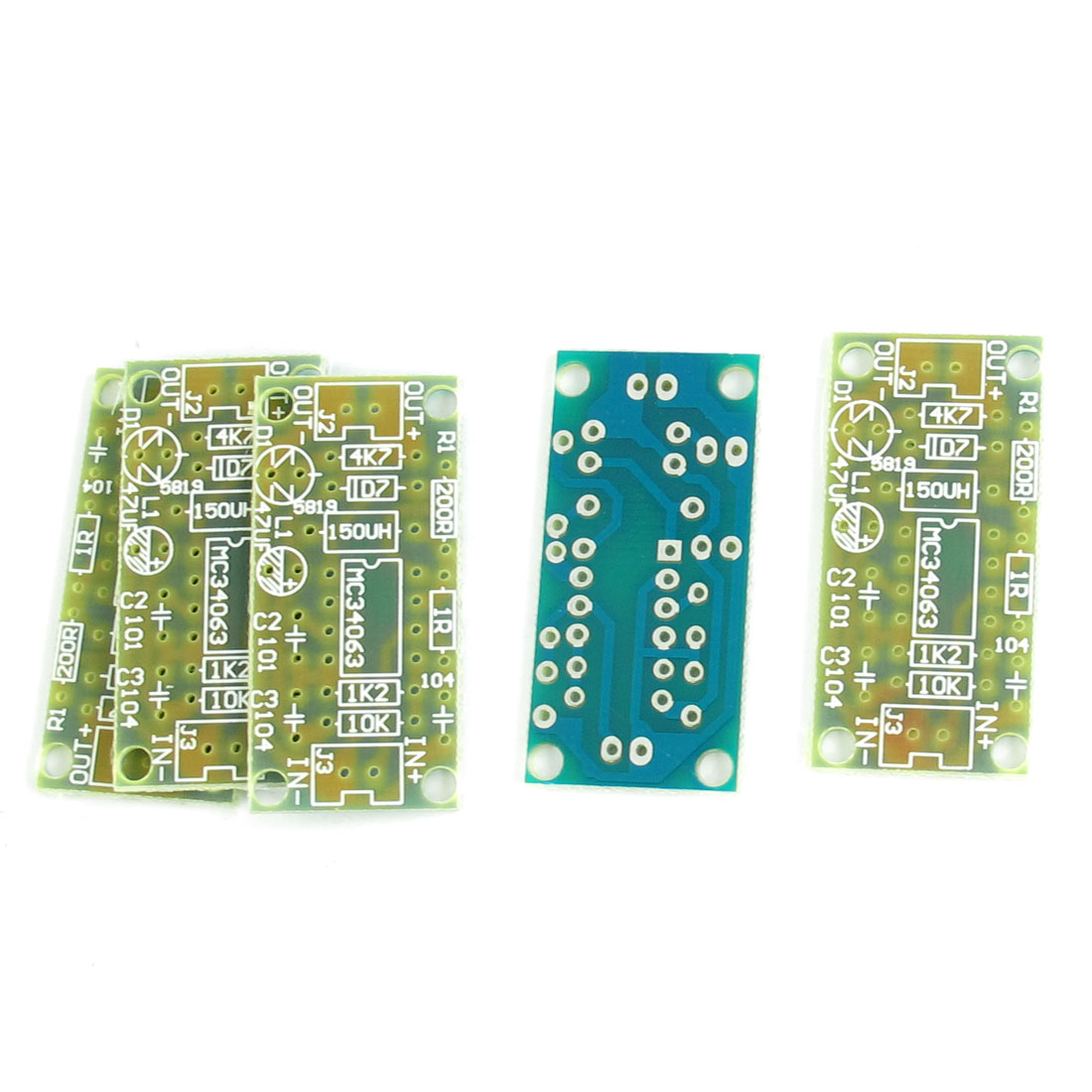 5 Pcs 40mm x 20mm DC/DC 3V 5V 12V Voltage Regulator Booster Module PCB Blank Board MC34063
