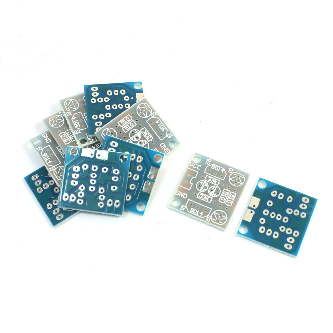 10 Pcs 5mm LED DIY Simple Flash Circuit Electronic Production Kits PCB Board