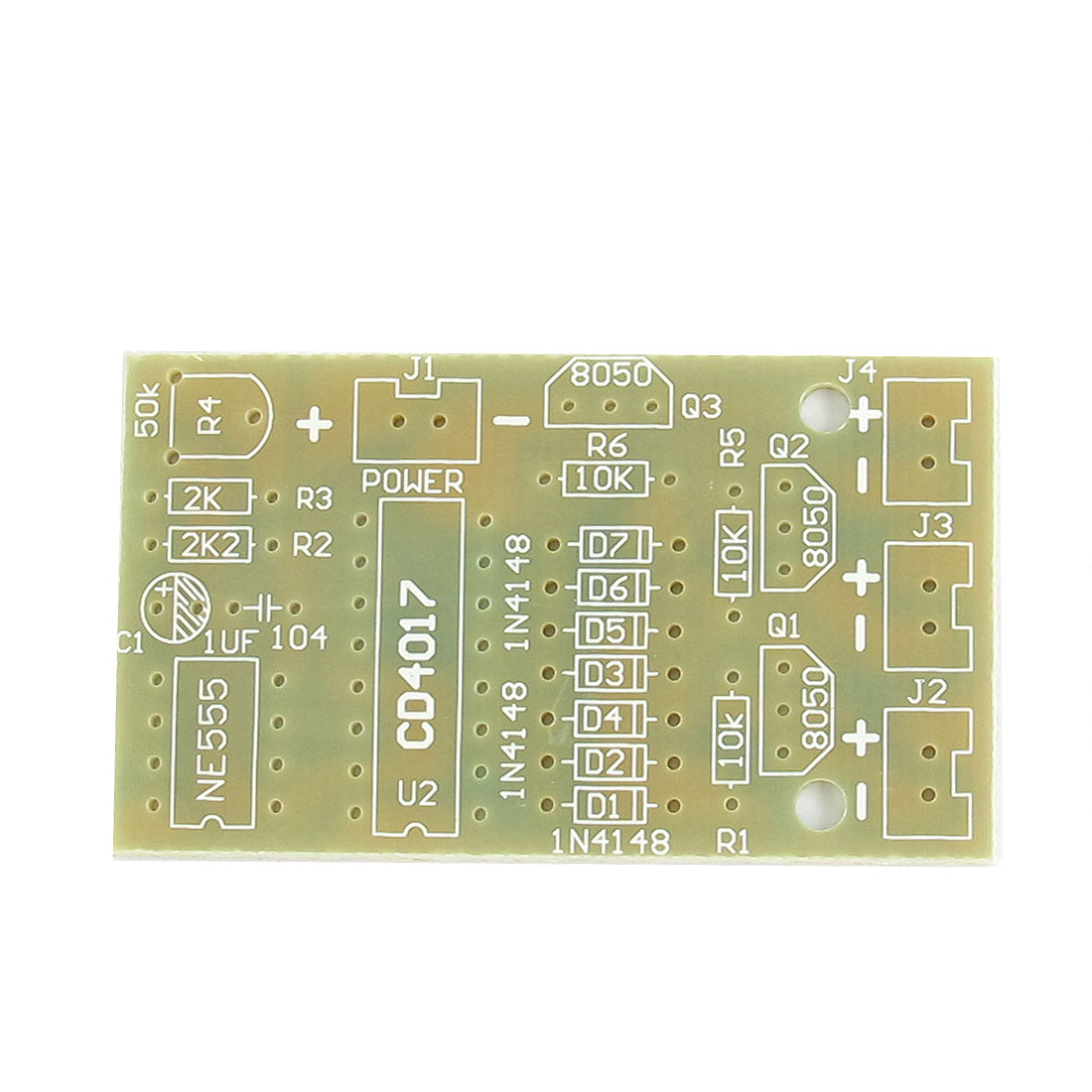 CD4017 NE555 DIY Electronic Learning Running Water Light Module PCB Blank Board 54mm x 31mm