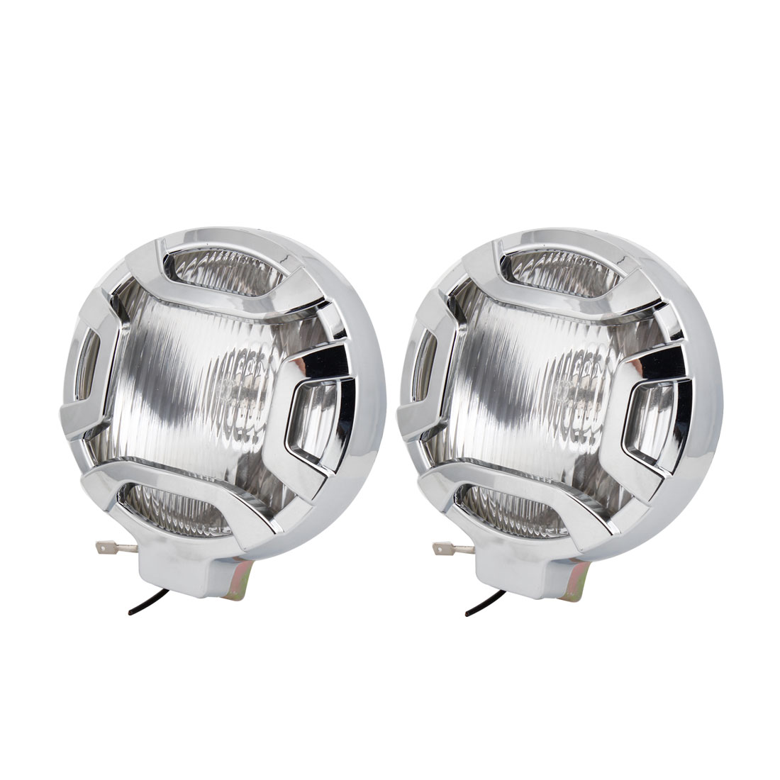 2 Pcs DC12V H3 55W Road Runner Optical Lens Fog Lights Driving Lamps Warm White for Car