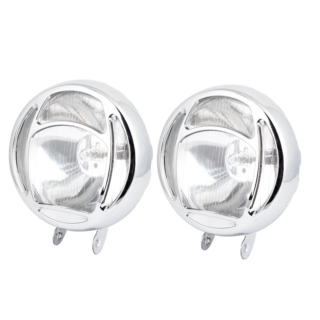 2 Pcs DC12V H3 55W Round Fog Lights Driving Lamps Warm White for Truck Car