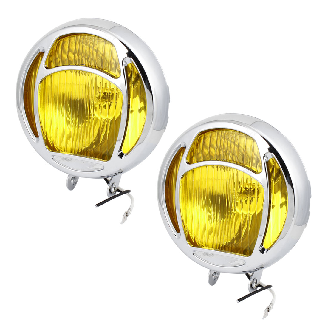 2 Pcs DC12V H3 55W Round Fog Lights Driving Lamps Bulb Amber for Truck Car