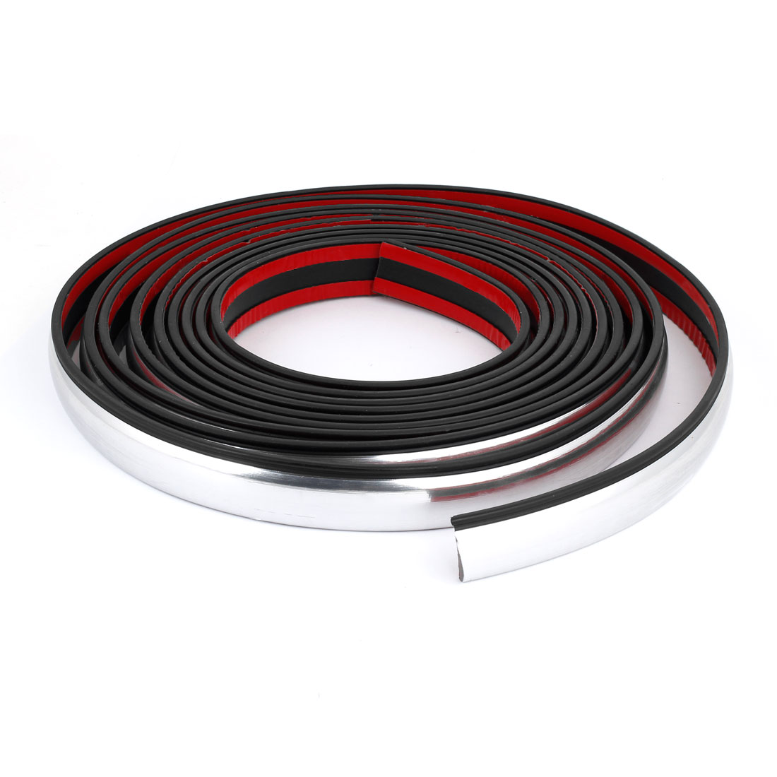 5M x 23mm Soft PVC Car Auto Wheel Fender Arch Sticking Moulding Trim Strip Decoration Silver Tone