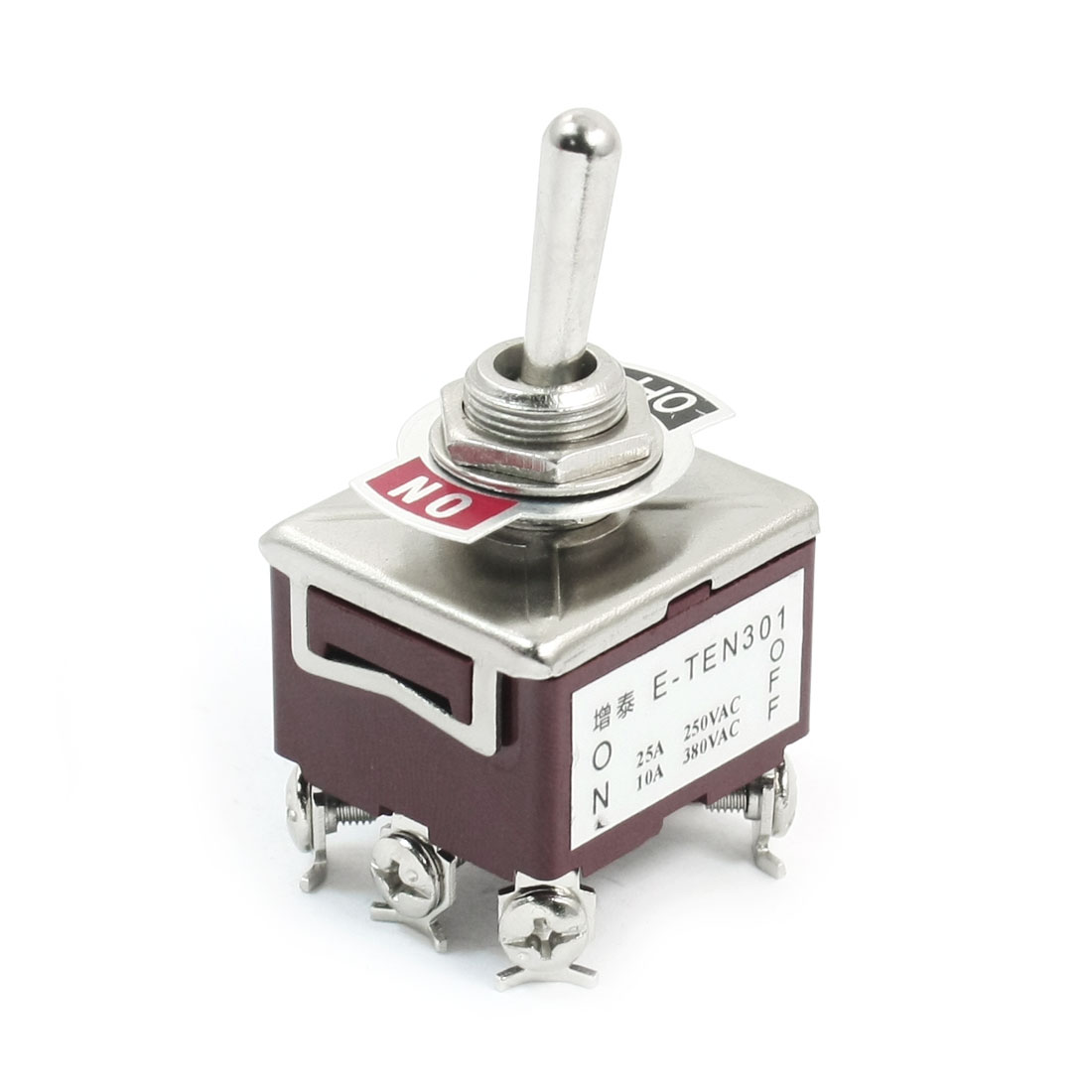 AC250V/25A AC380V/10A DPST 2 Positions ON/OFF Toggle Switch E-TEN301