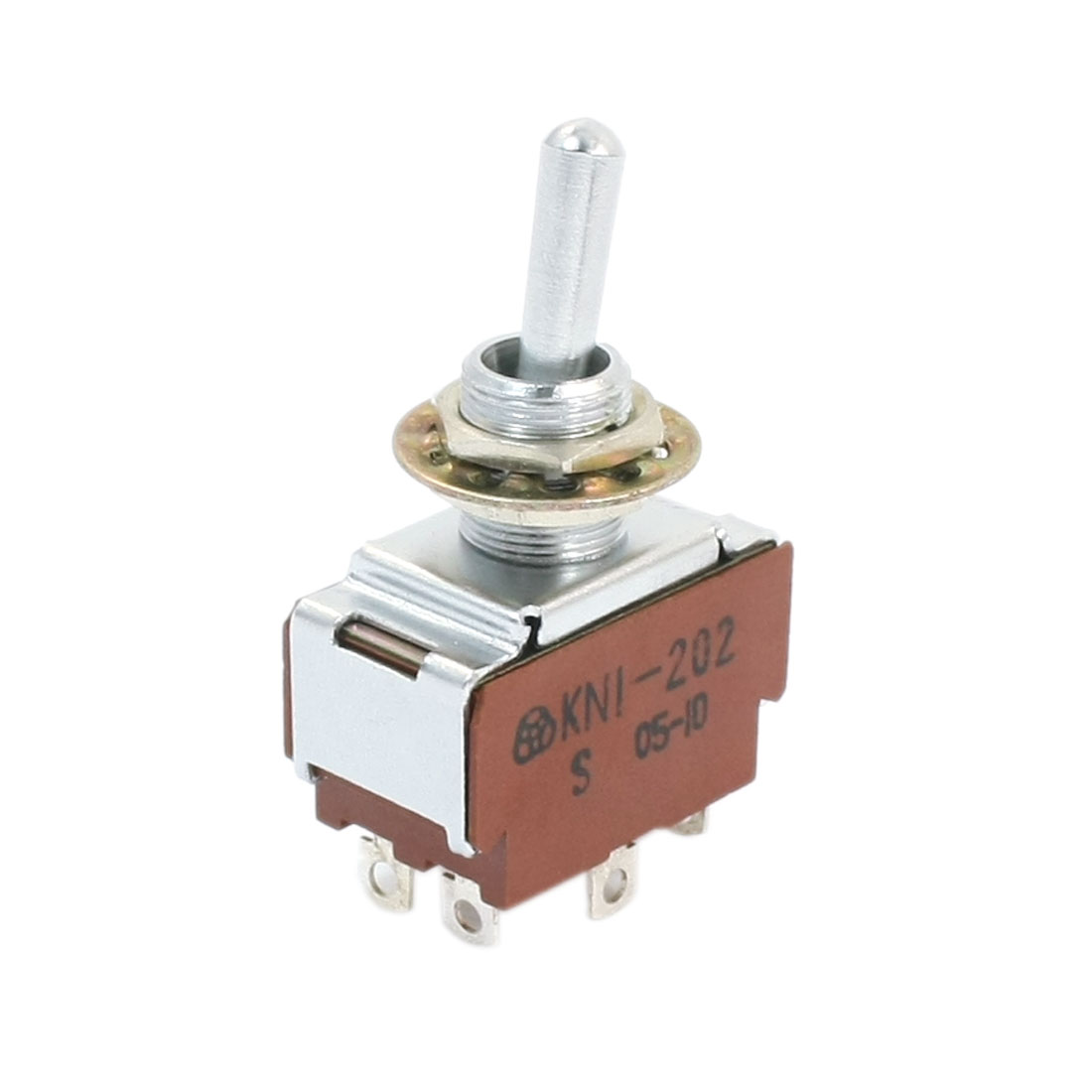 12mm Mounting Hole Dia 2 Position 6-Terminals Toggle Switch AC 250V 2A