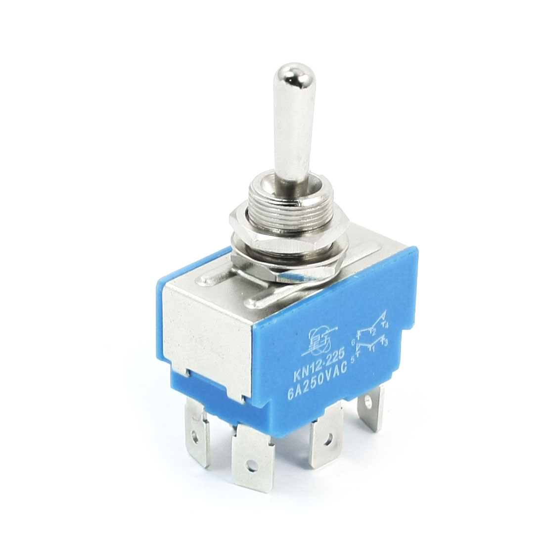 AC250V 6A DPDT 3 Positions ON/OFF/ON 6 Pins Terminal Toggle Switch