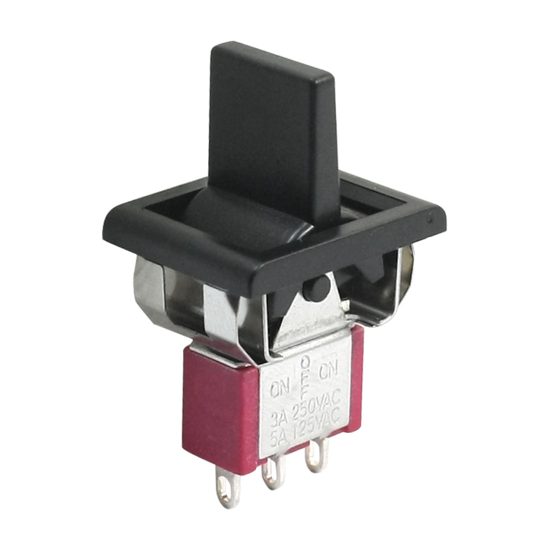 T80-R SPDT 3 Positions ON/OFF/ON Toggle Switch AC 250V/3A 125V/5A