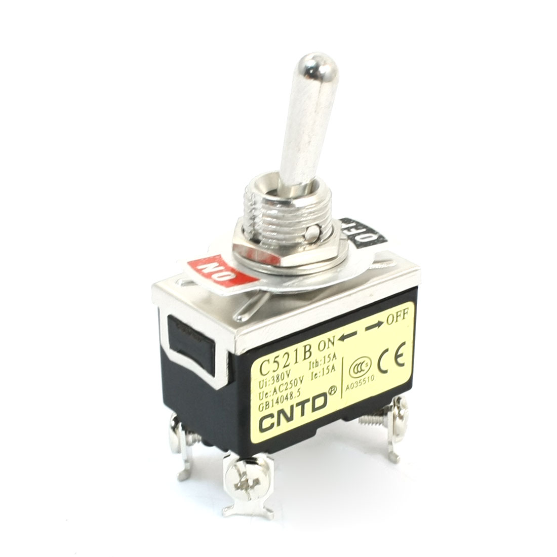 AC250V 15A DPST 2 Positions ON/OFF Locking Toggle Switch C521B