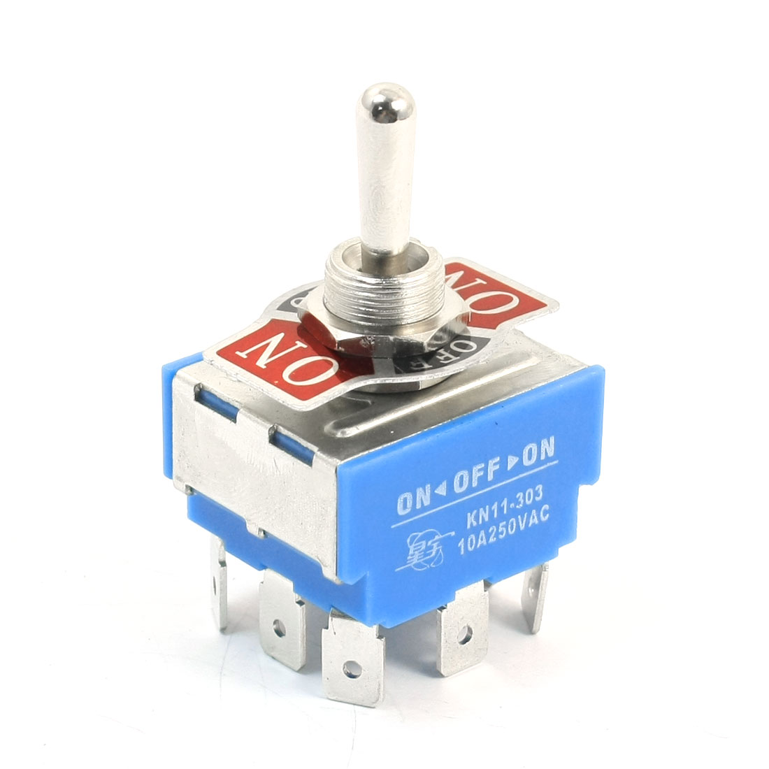 12mm Mounting 3 Position 9-Terminals 3PDT Toggle Switch AC 250V 10A