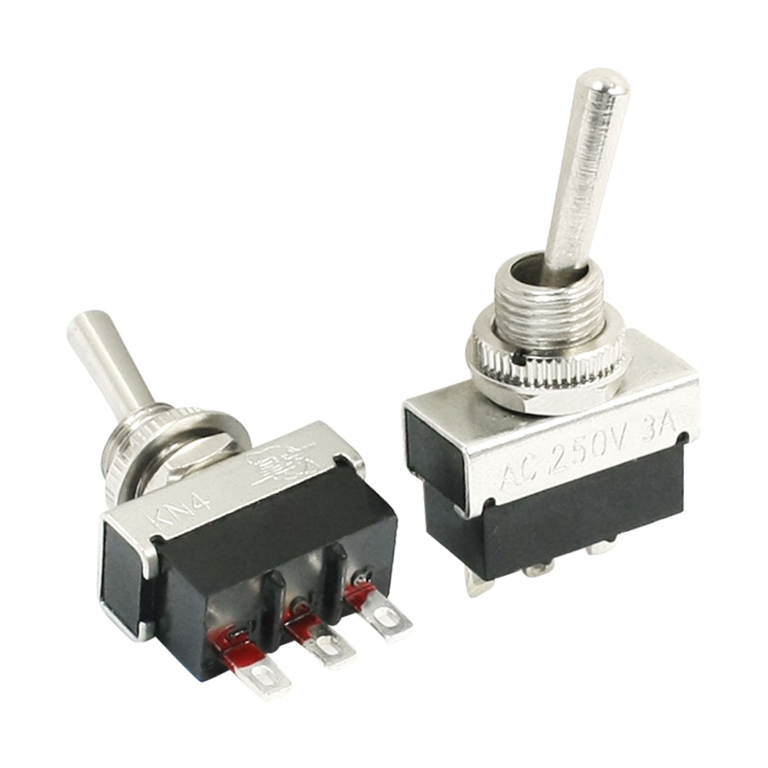 2PCS KN4-102 AC 250V 3A SPDT 2 Position Rocker Miniature Toggle Switch