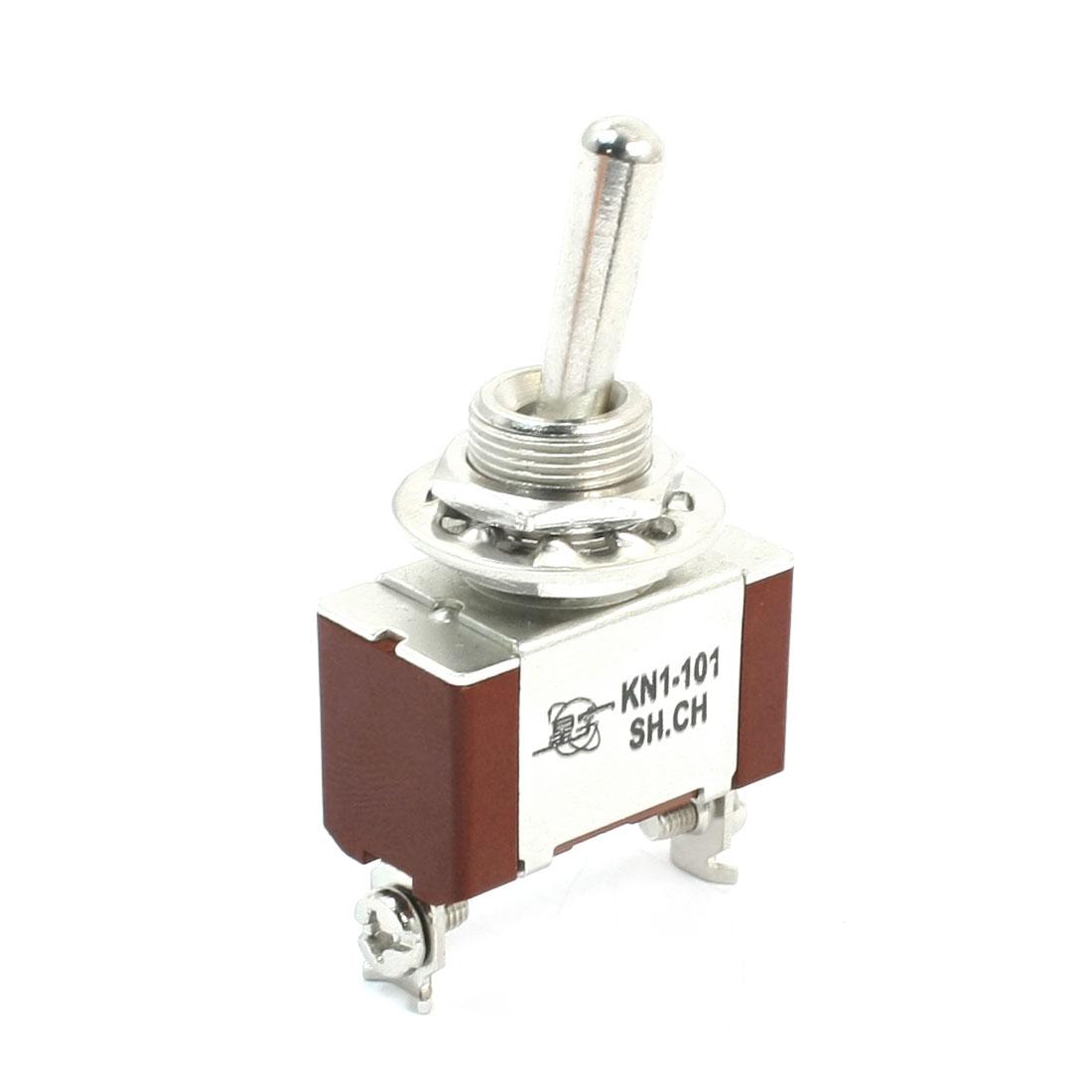 KN1-101 SPST 2 Way Locking Rocker Type Toggle Switch AC 250V 8A