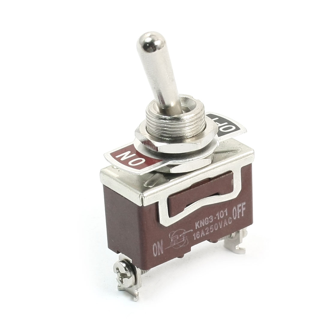 KNG3-101 SPST 2 Way Locking Rocker Type Toggle Switch AC 250V 16A