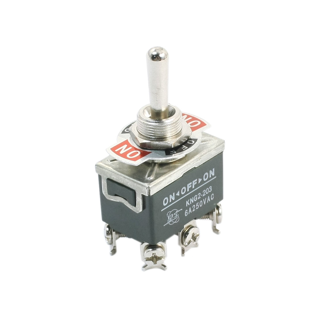 AC 250V 6A 6 Screw Terminals ON/Off/ ON DPDT Latching Toggle Switch