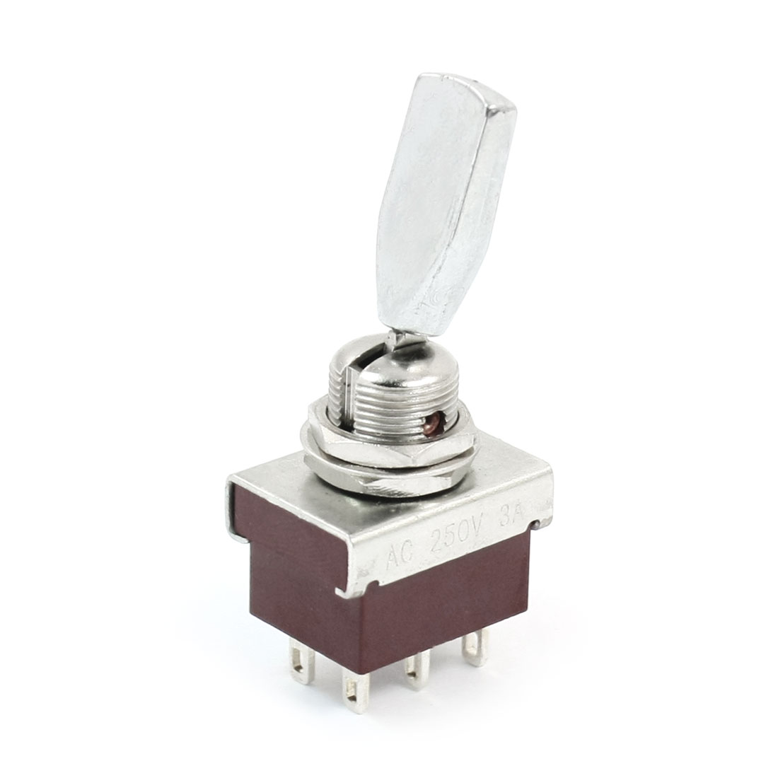 KN3-202 12mm Mount Dia DPDT 6-Terminals Toggle Switch AC250V 3A