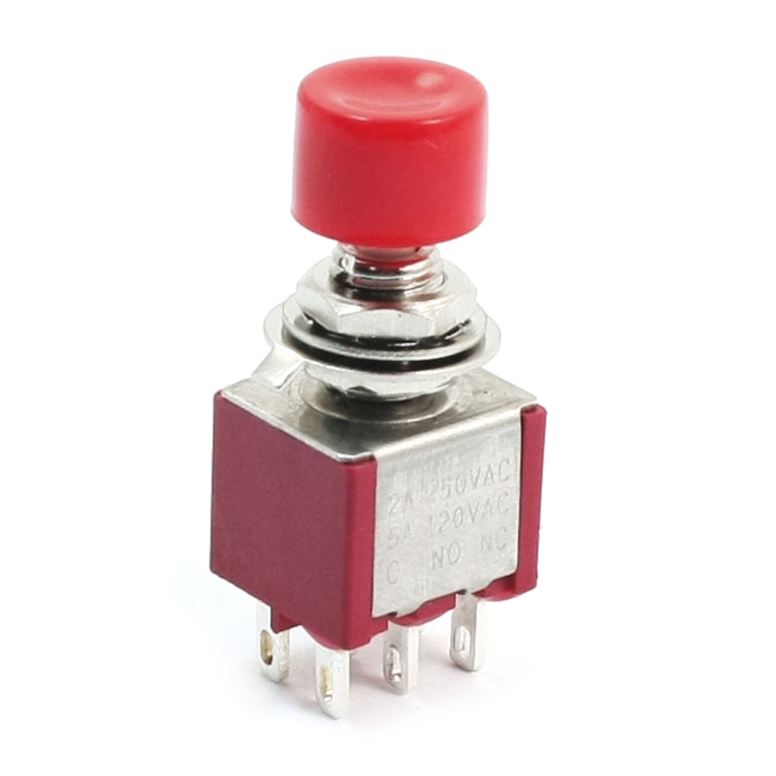 PS821M1 Momentary Red Push Button Switch DPDT AC250V 2A 120V 5A