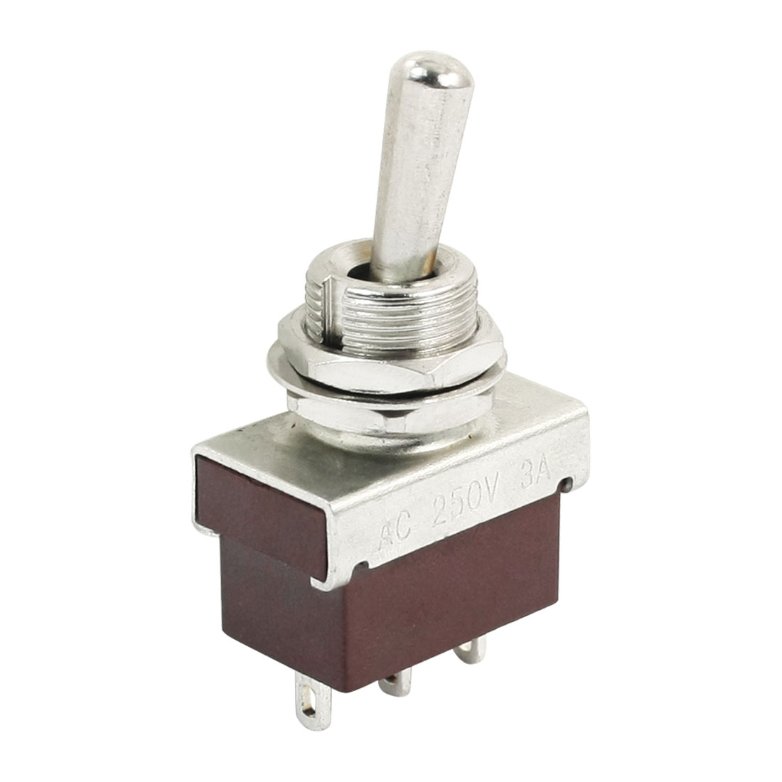 AC250V 3A ON/ON 2 Positions SPDT Latching Toggle Switch