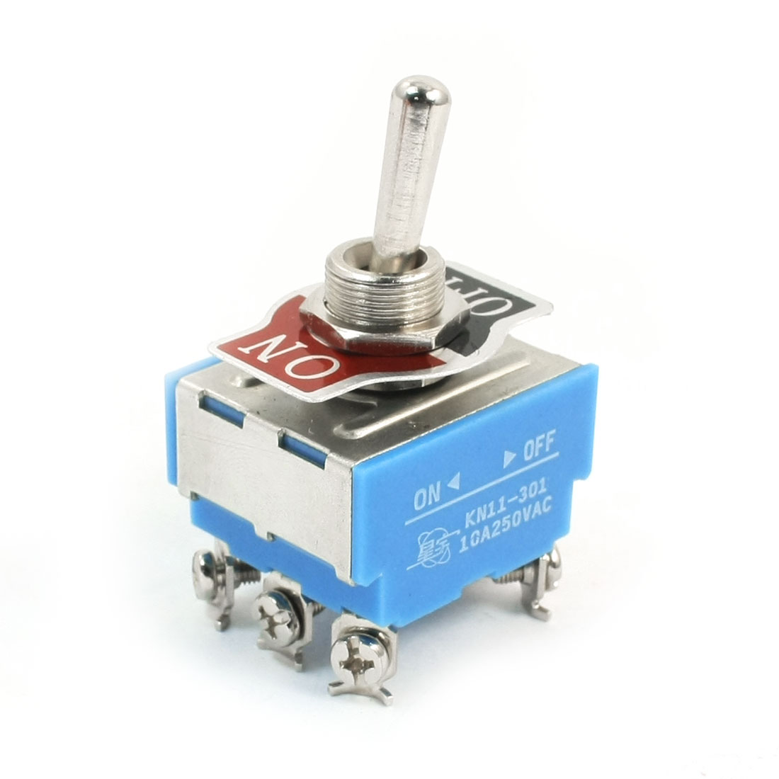 KN11-301 DPDT 2 Positions ON/OFF Latching Toggle Switch AC250V 10A