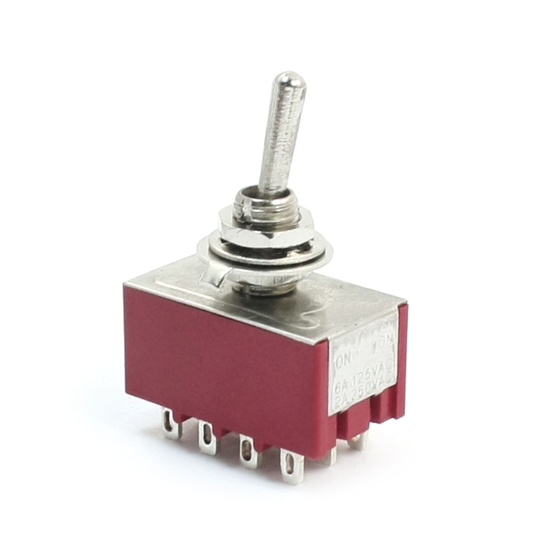 AC 250V 2A 125V 6A 4P2T 2 Positions 12 Terminals Rocker Toggle Switch