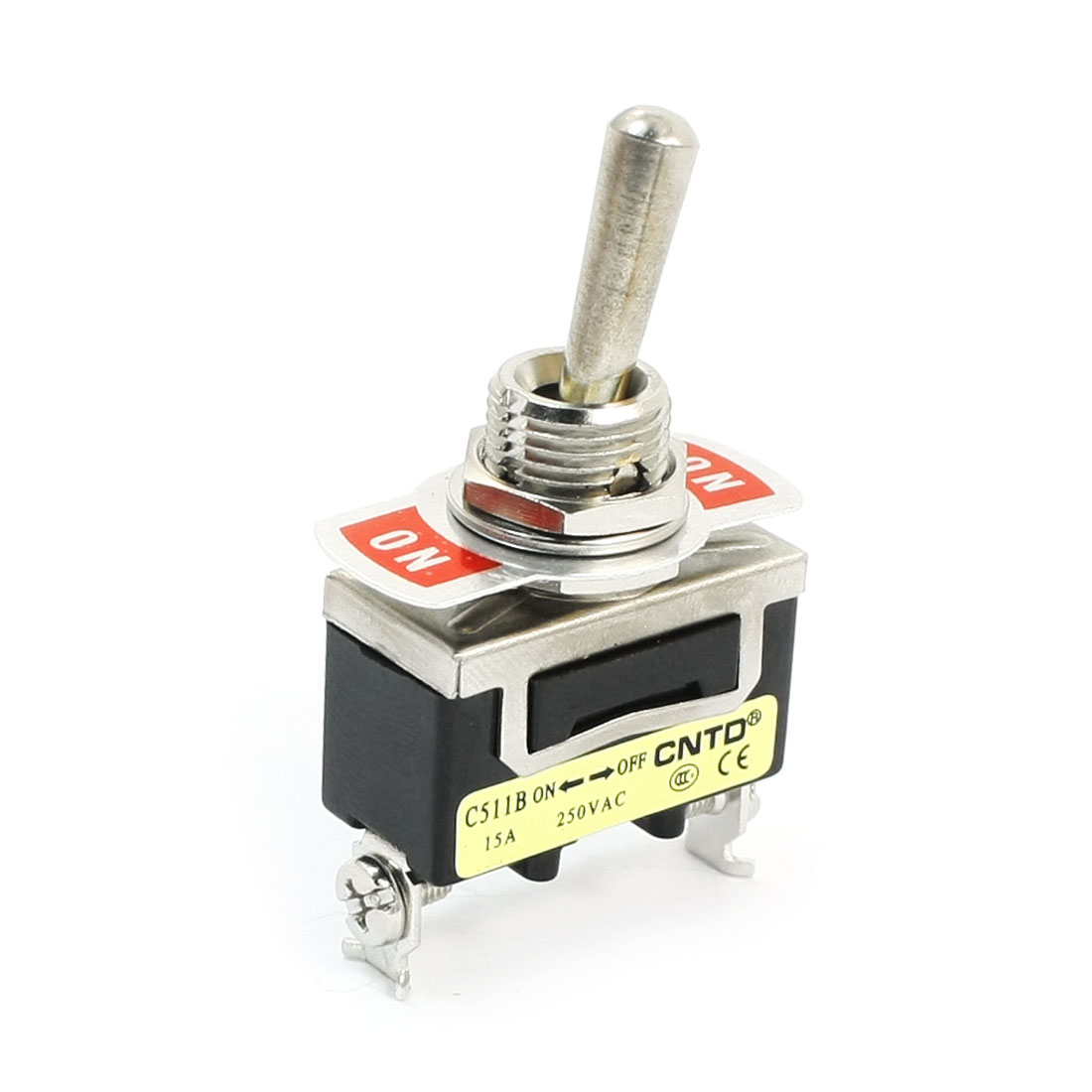 AC250V 15A SPST 2 Positions Latching Toggle Switch for Switching Light