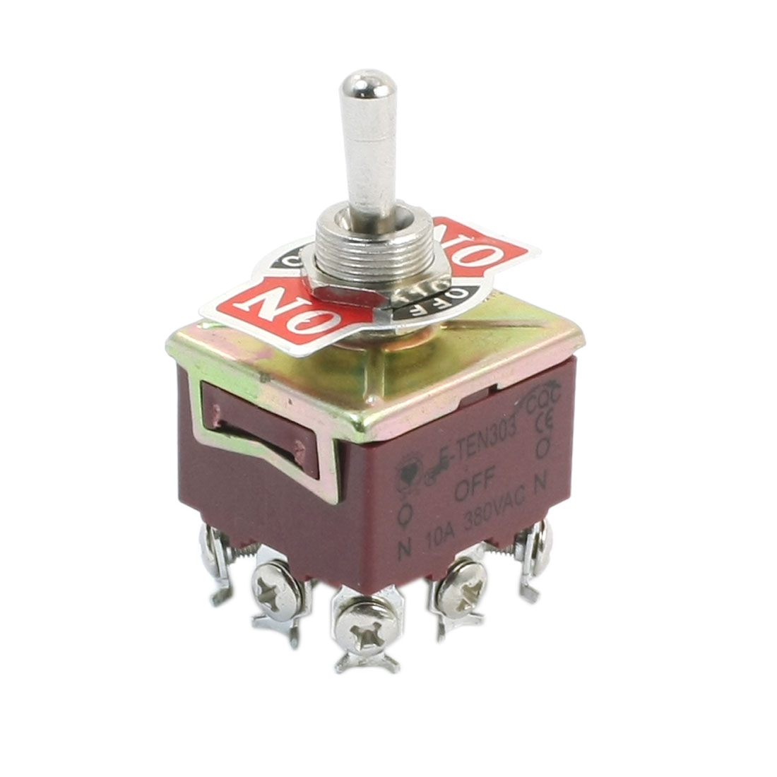 3PDT 3 Position 9 Screw Terminals Toggle Switch AC380V 10A E-TEN303