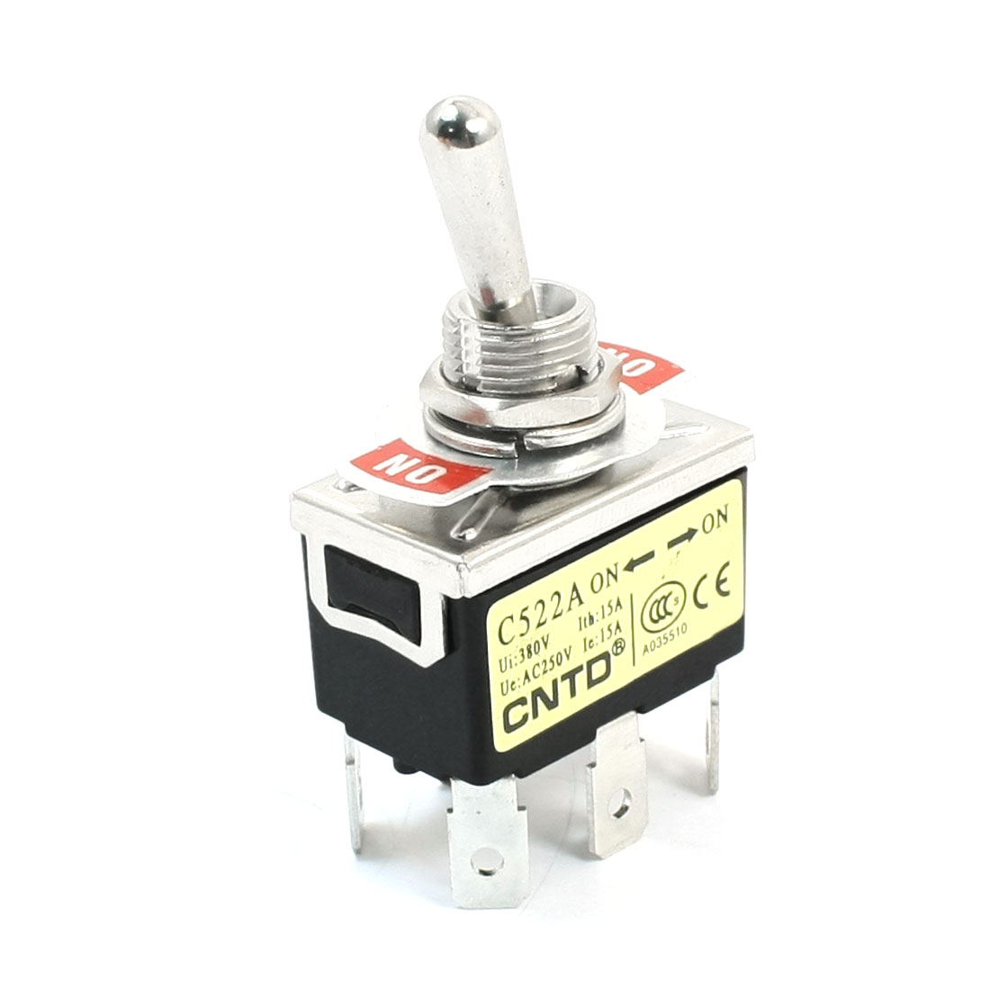 AC250V 15A DPDT 2 Positions ON/ON Latching Toggle Switch C522A