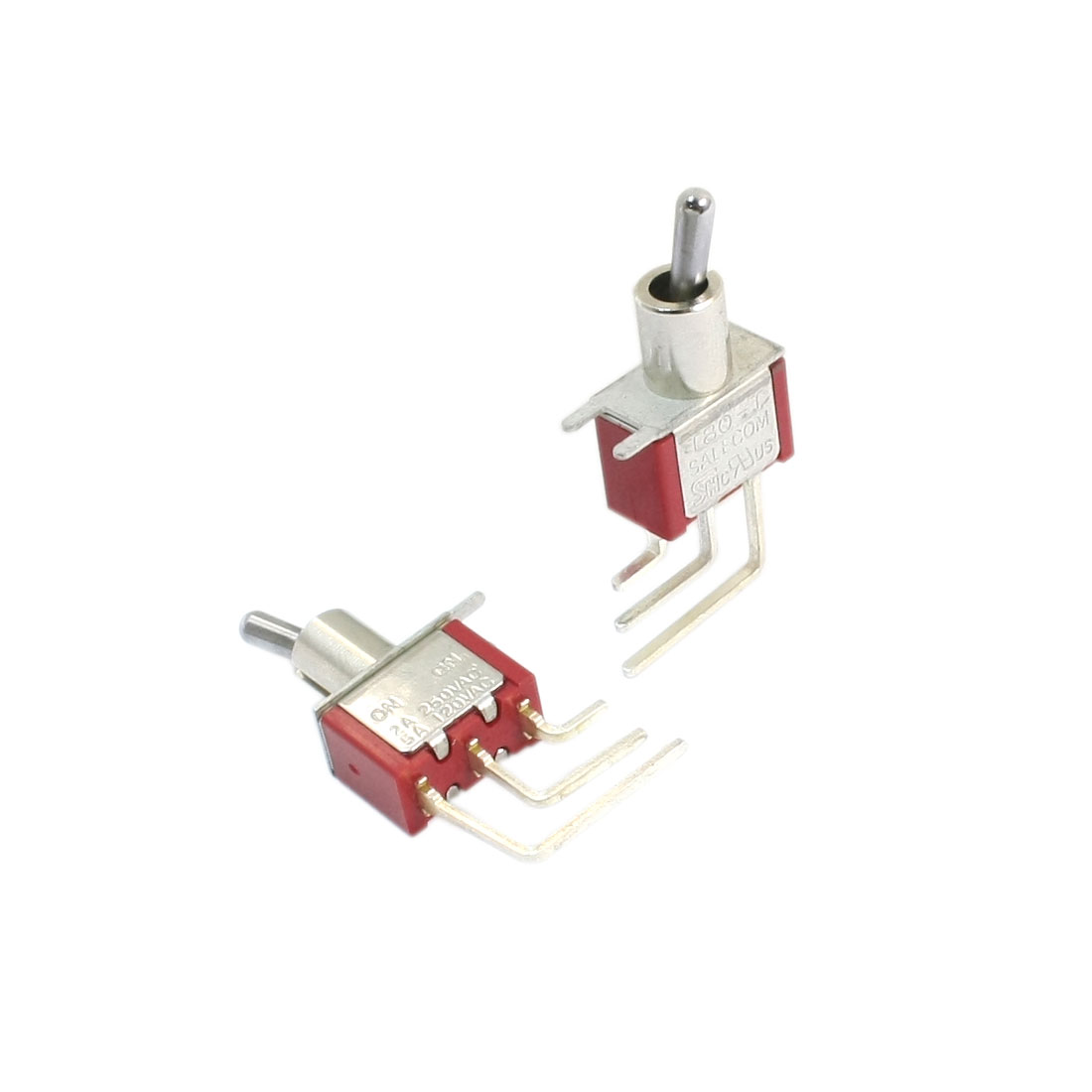 2pcs 2 Position 3 Bent Pins SPDT ON/ON Toggle Switch AC250V 2A 120V 5A