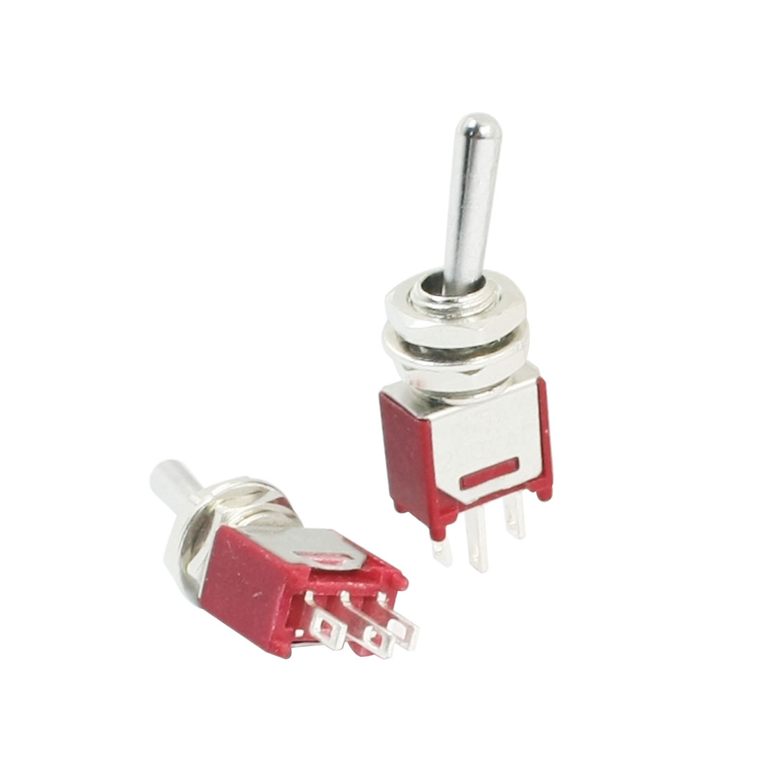 2pcs SPDT 2 Positions 3Pin Terminals Rocker Toggle Switch AC 250V 1.5A