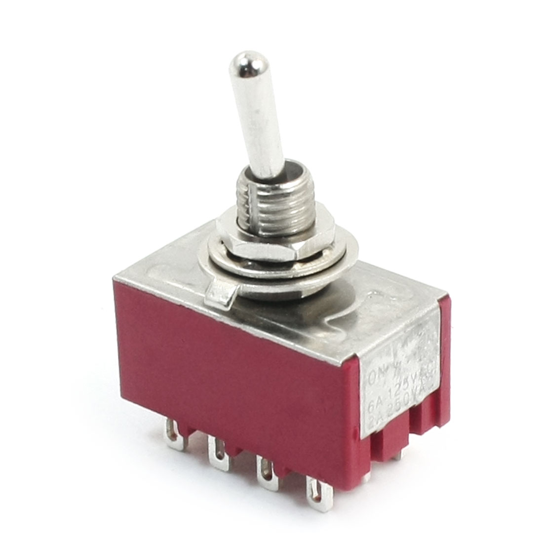 4PDT 2 Positions Latching 12-Terminals Toggle Switch AC250V 2A 125V 6A