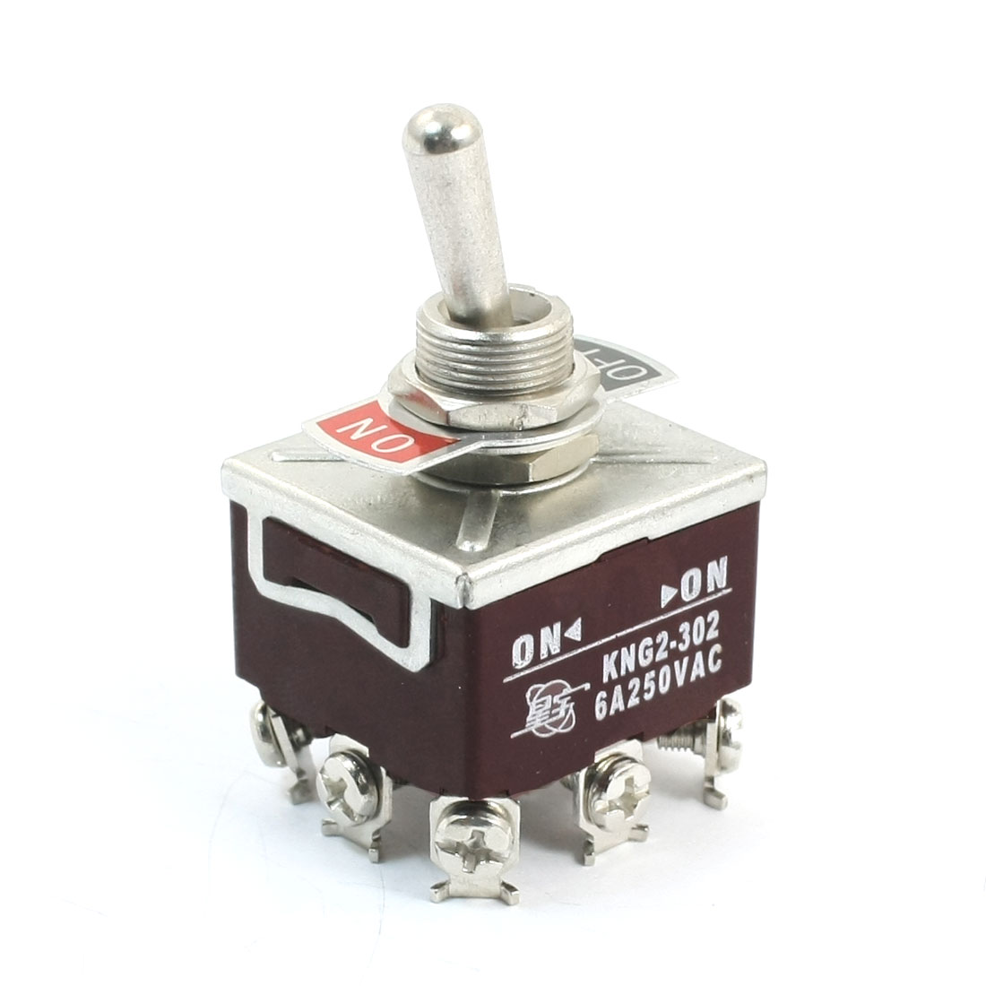 12mm Mounting Hole Dia 2 Position 9-Terminals 3PDT Toggle Switch AC 250V 6A