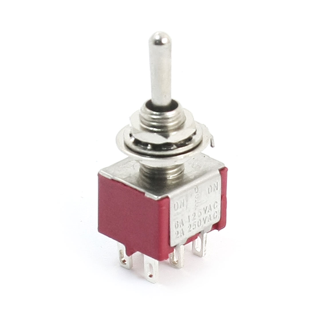 AC 250V 2A AC 125V 5A 2P2T 3 Positions ON/OFF/ON Toggle Switch