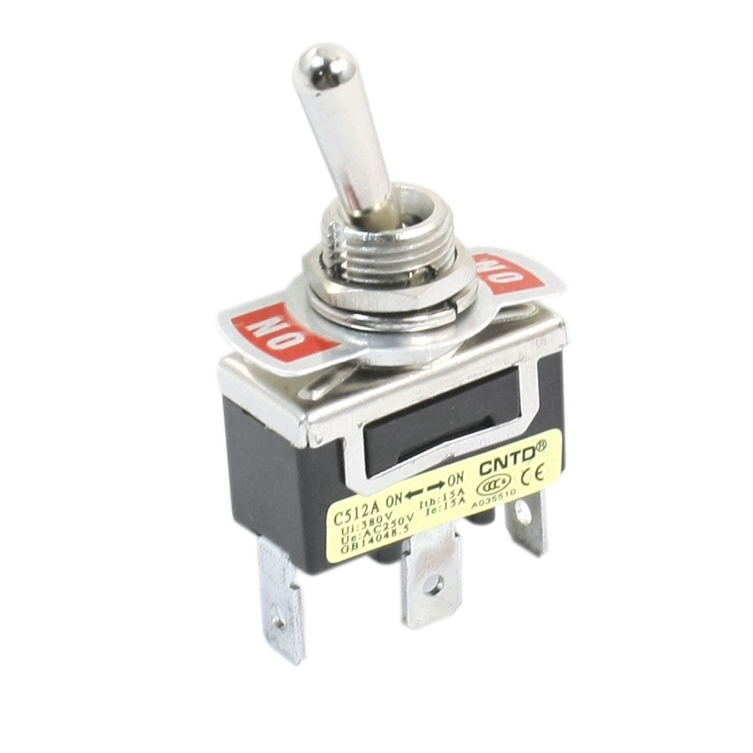 AC250V 15A SPDT 2 Positions 3 Terminals Latching Rocker Type Toggle Switch