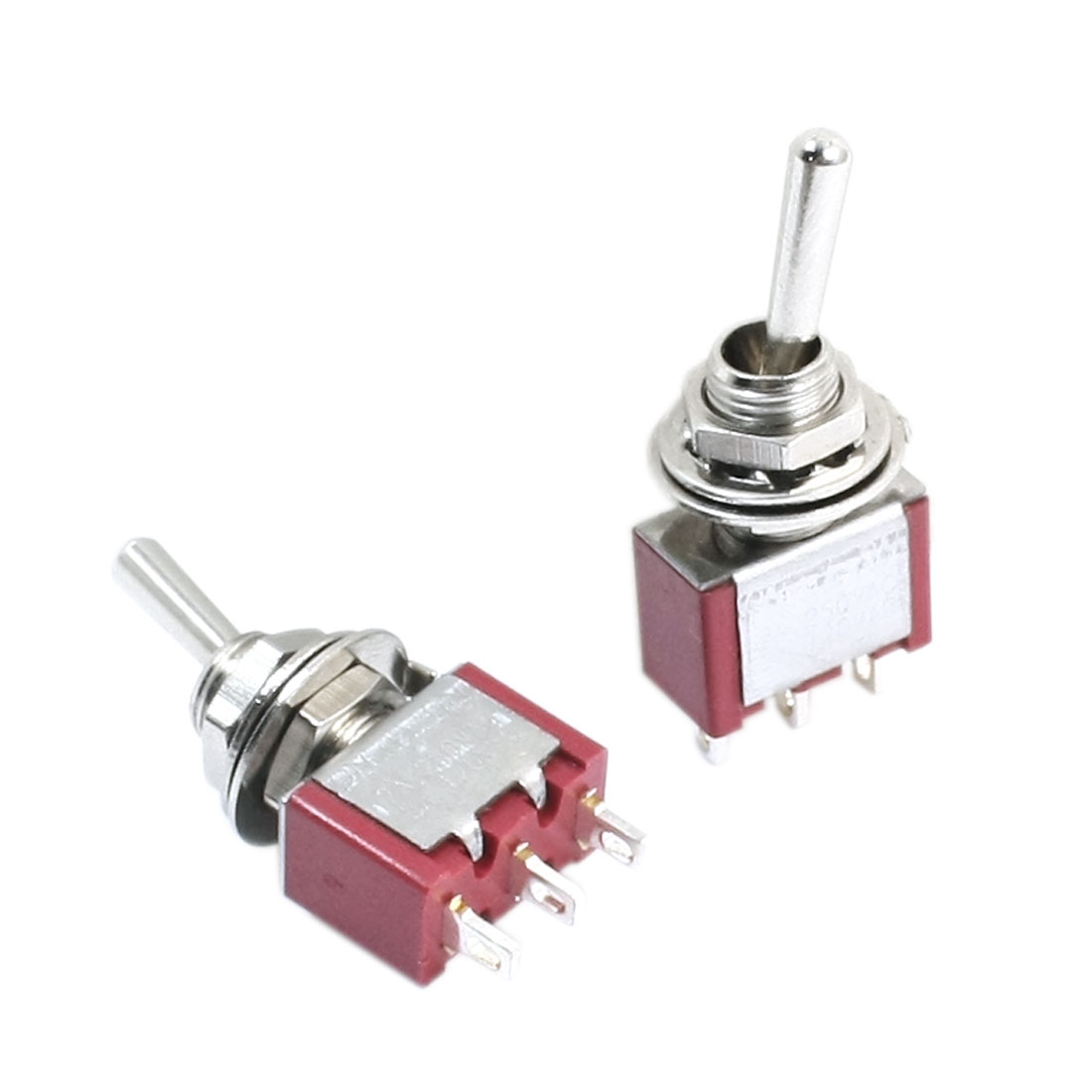 2Pcs AC 250V/2A 120V/5A Momentary SPDT 2 Positions Toggle Switches