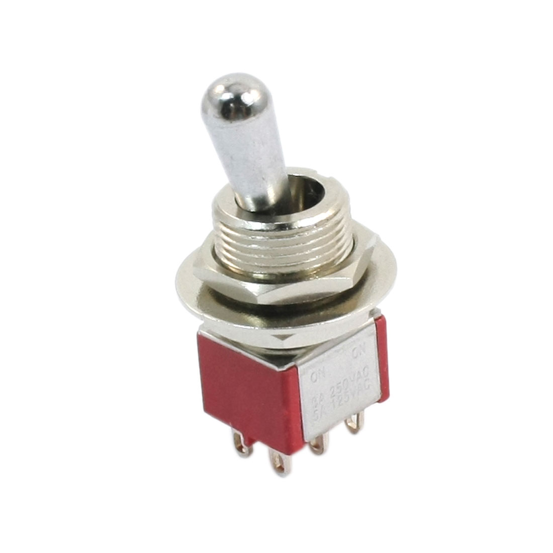 AC 250V 3A 125V 5A 2P2T 2 Positions 6 Pin Terminals Rocker Toggle Switch