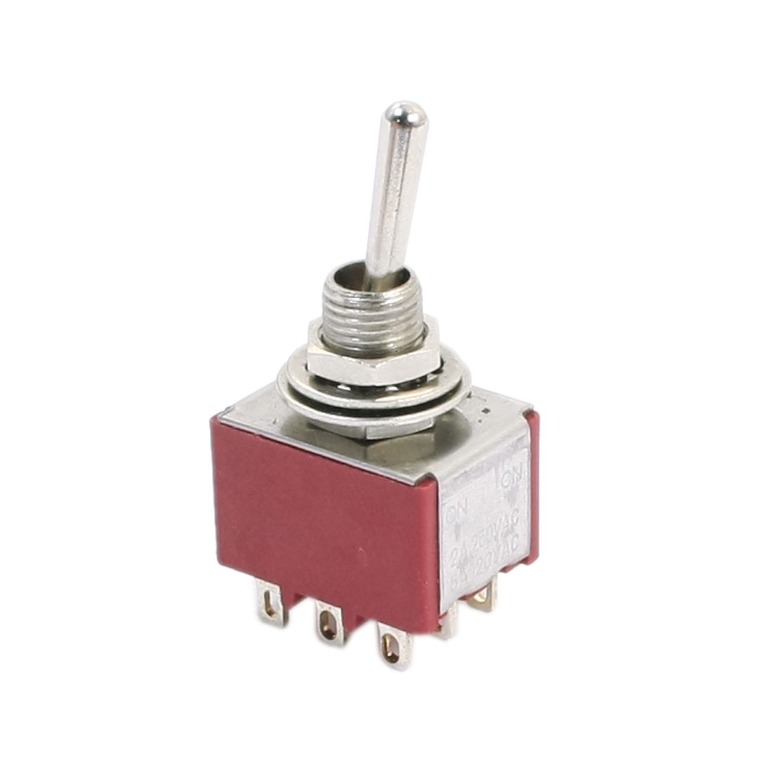 6mm Mounting 2 Position 9-Terminals 3PDT Toggle Switch AC 250V/2A 120V/5A