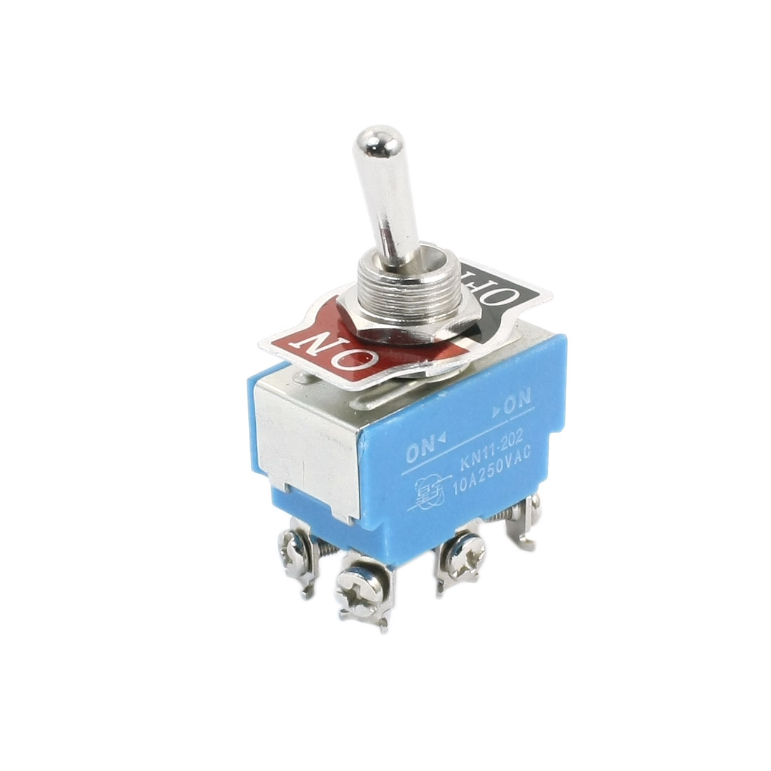 KN11-202 2 Positions DPDT 6 Screw Terminals Toggle Switch AC250V 10A