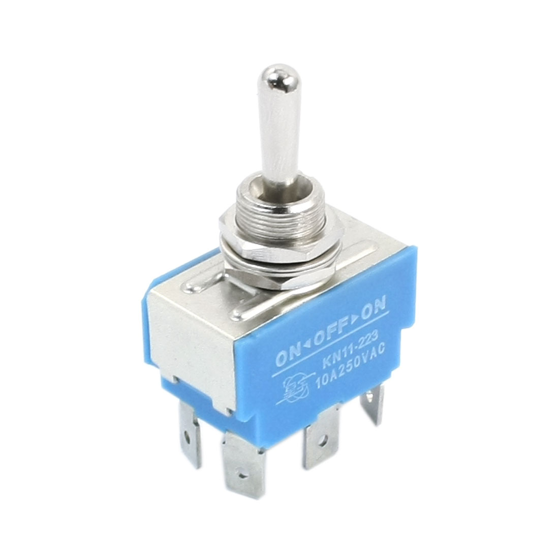 KN11-223 DPDT 3 Positions Momentary 6-Terminals Toggle Switch AC250V 10A