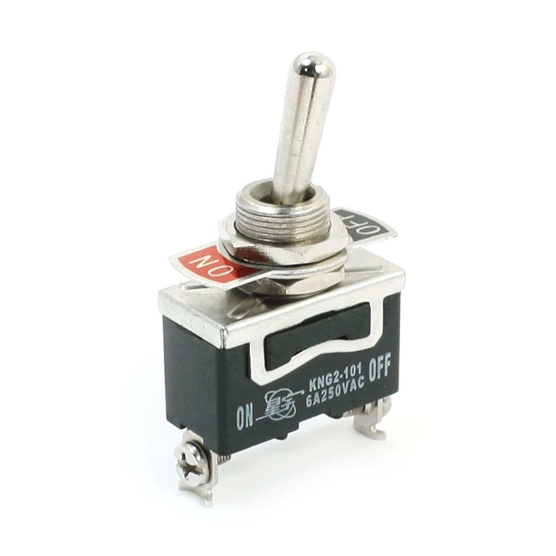 12mm Panel Cutout Dia 2 Position SPST Toggle Switch AC 250V 6A
