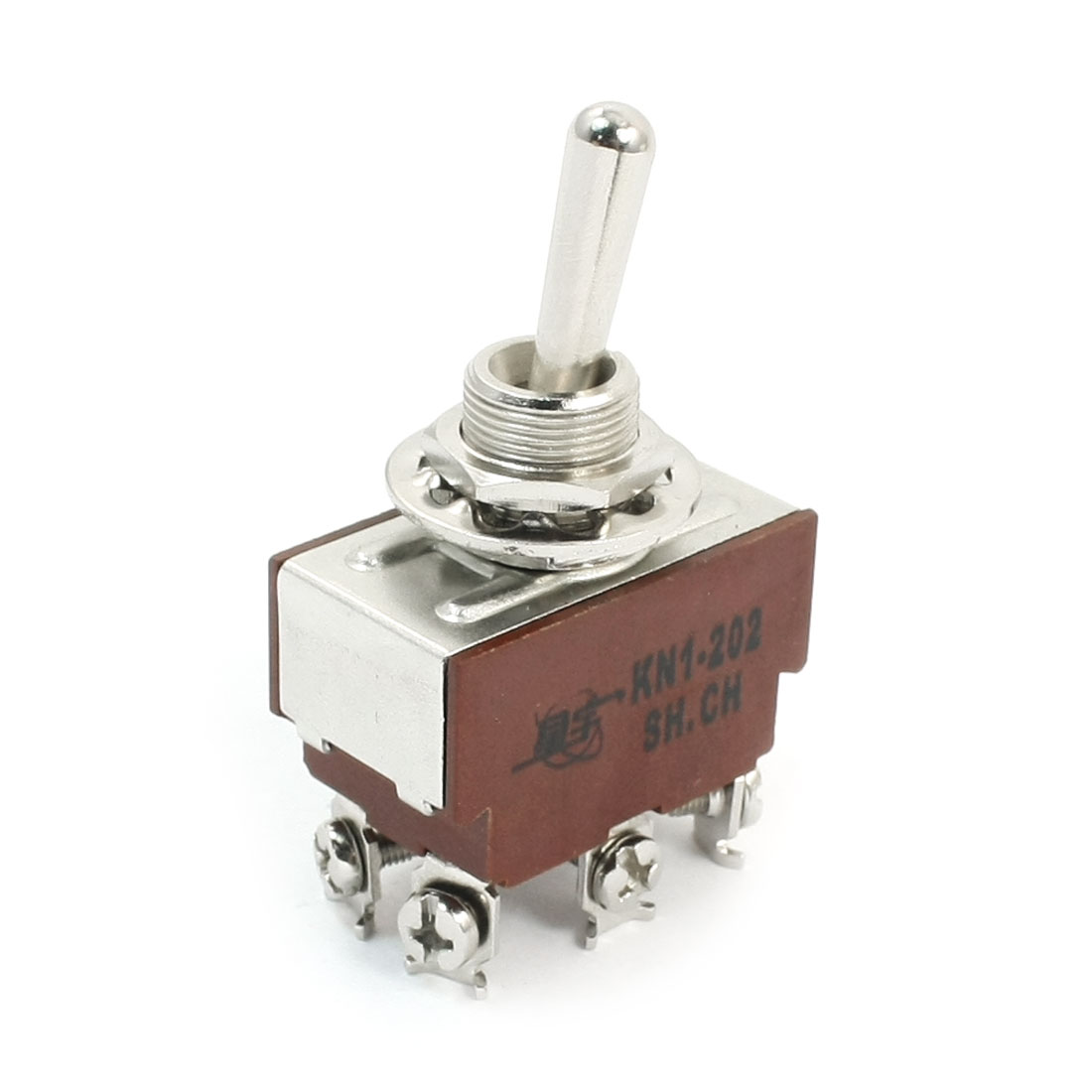 KN1-202 DPDT 2 Positions Latching 6-Terminals Toggle Switch AC250V 5A