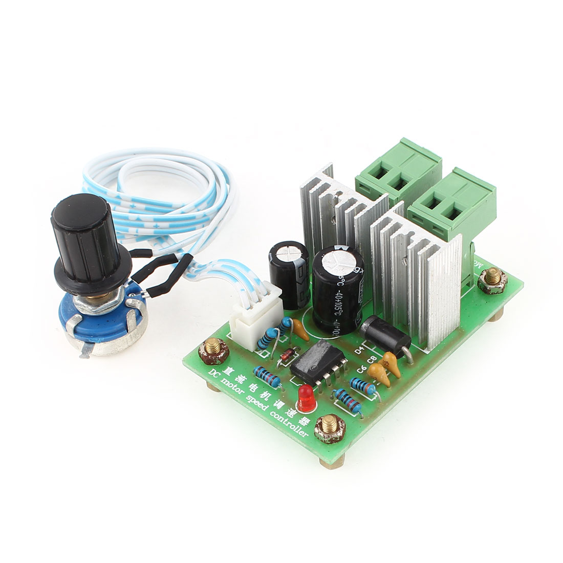 PWM DC Converter Motor Speed Controller Switch Green DC 12-36V 10A