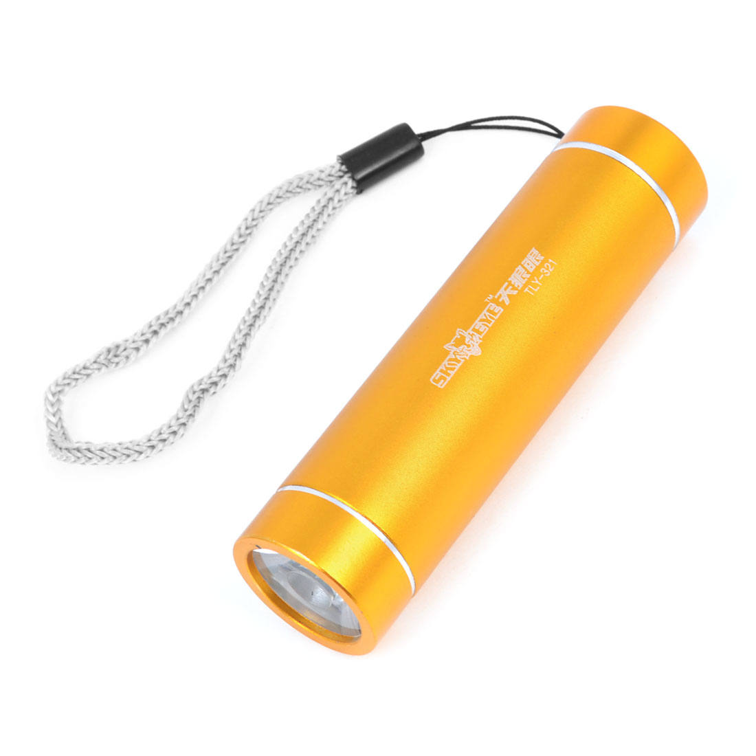 Outdoor Gold Tone Aluminum Shell White LED Light Portable Flashlight Torch