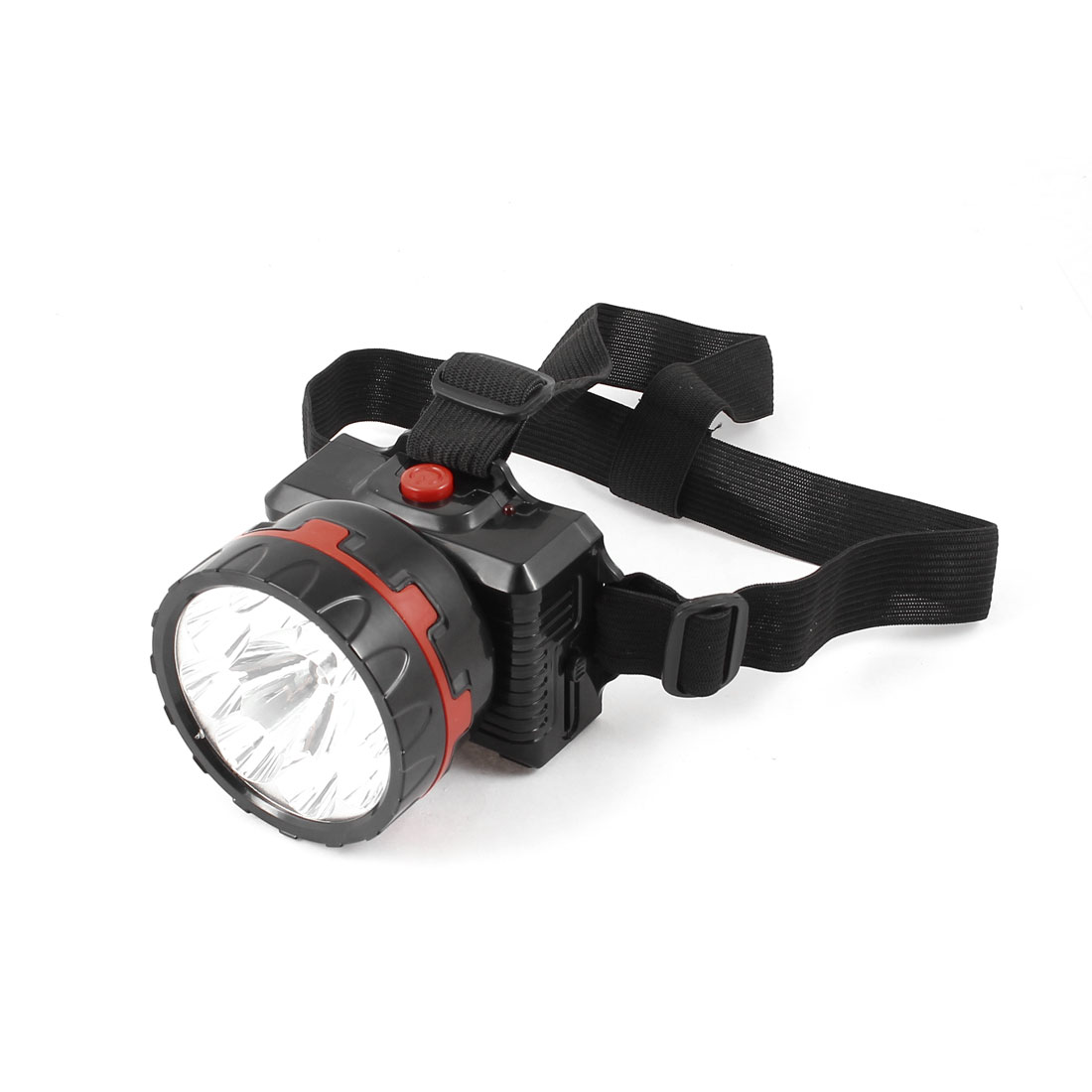 AC 110V-240V US Plug Rechargeable White Light 3 Modes 9 LEDs Torch Head Lamp Black