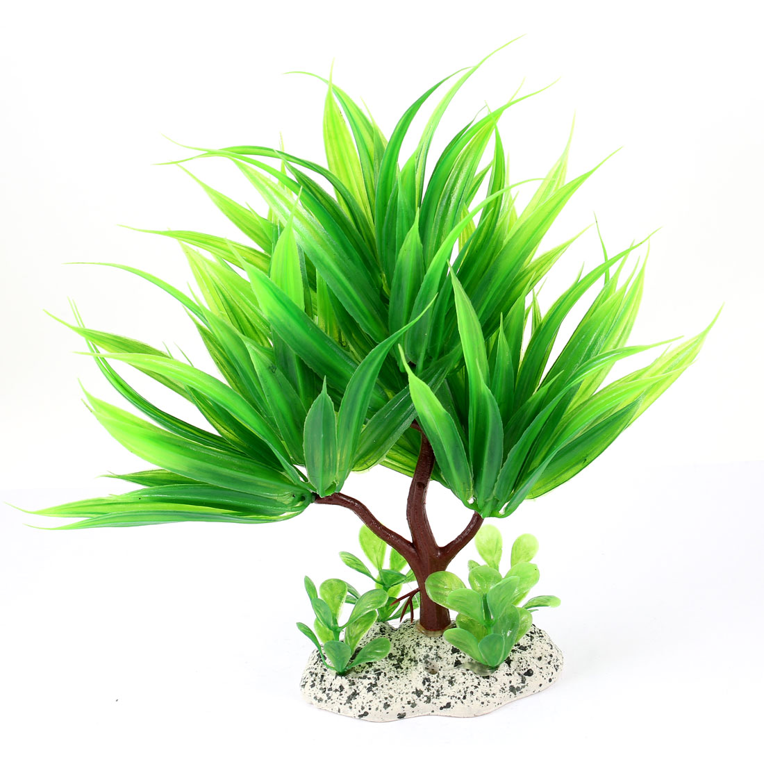 "Aquarium Fish Tank Ornament Landscaping Artificial Emulational Underwater Water Plant Grass Decor Green 8.3"" Height"