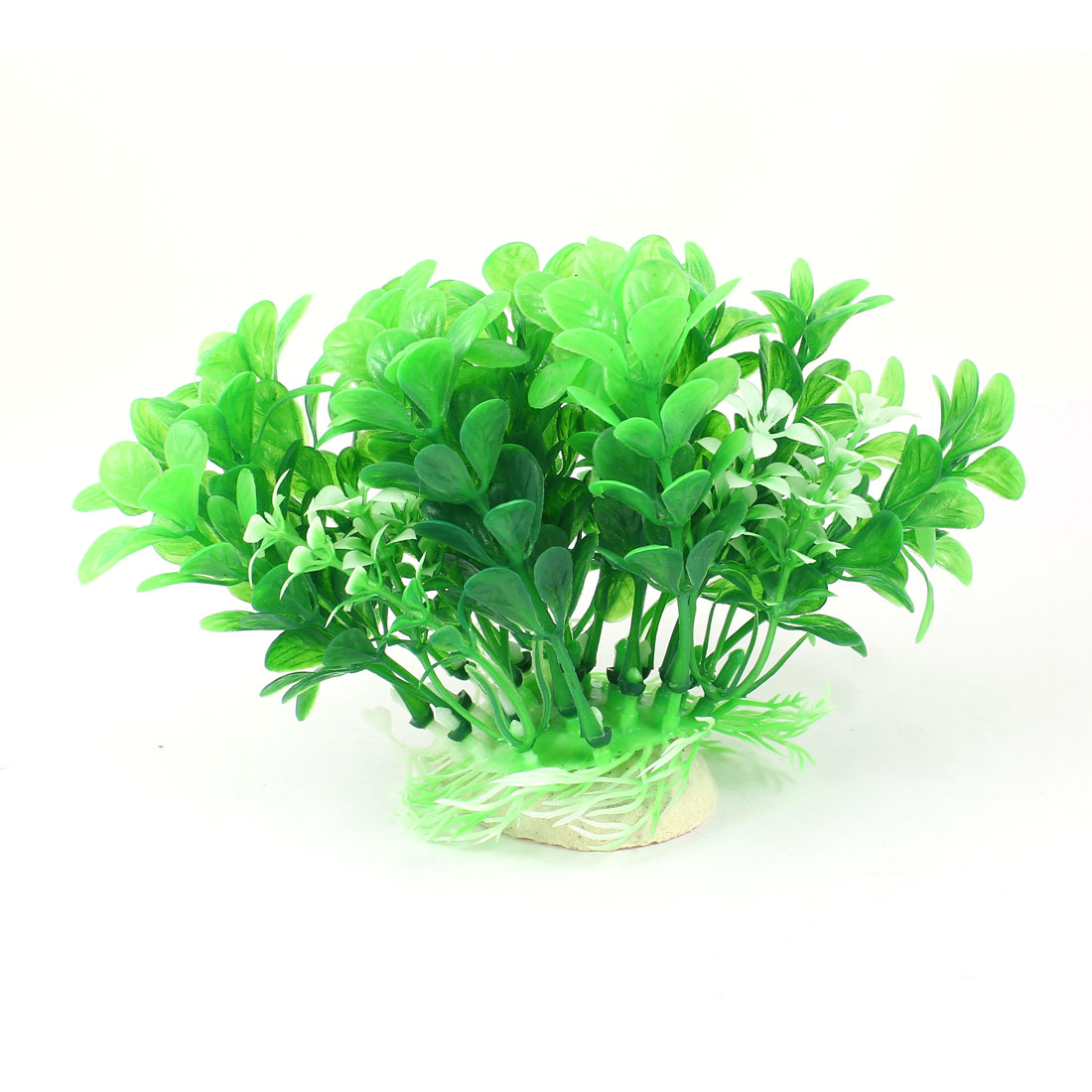 "Aquarium Fish Tank Ornament Landscaping Artificial Emulational Underwater Water Plant Grass Decor Green 4"" Height"